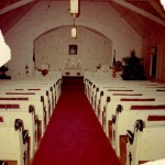 Ocracoke United Methodist Church interior, circa 1960s