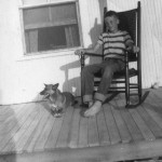 Philip Howard On Porch Of Bragg-Howard House On Ocracoke Island - 1950s