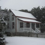 Bragg-Howard House On Ocracoke Island In The Snow - 2014