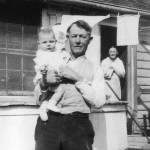 Homer and Aliph Howard With Granddaughter On Ocracoke Island - 1939