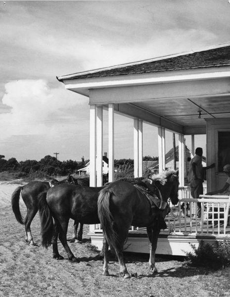 Island Inn porch circa 1950s