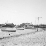 A view of the harbor from behind the second old Post Office circa 1950s