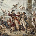Blackbeard's Battle With Robert Maynard Off Ocracoke Island
