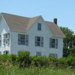 Captain Bill Thomas House on Ocracoke Island From Silver Lake