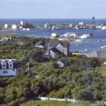 Captain Bill Thomas House From Ocracoke Lighthouse - 1950s