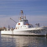 Coast Guard Cutter At Ocracoke Station - 1960's