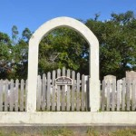 Howard Cemetery Gate On Ocracoke Island - 2014