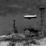 Loop Shack Hill And A Blimp On Ocracoke Island - 1940s