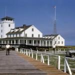 U.S. Coast Guard Station Ocracoke From Dock - 1960s