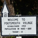 Portsmouth Village welcome sign