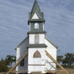 Portsmouth Church stabilized after Hurricane Arthur - 2014