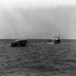 Disembarking Frazier Peele's Ferry To Ocracoke Island - 1950s