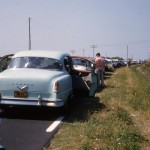 Early Line For Ferry To Ocracoke - 1960s
