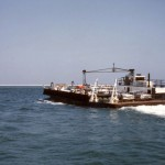 Early State Ferry To Ocracoke Island Crossing Hatteras Inlet - 1960s