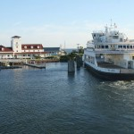 Ferry Leaving Ocracoke Island's Silver Lake