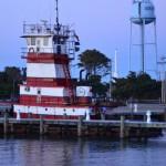 Ferry Tugboat Docked In Silver Lake On Ocracoke Island