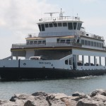 "Ferry ""Swan Quarter"" Arriving At Silver Lake On Ocracoke Island"