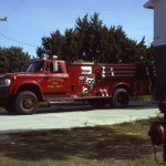Truck at old fire station - August 1977