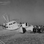 Aleta (on right) after a storm - 1942