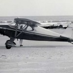 Airplane On The Beach On Ocracoke Island - 1950s