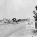 Airplane On The Road On Ocracoke Island - 1950s