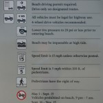 Beach Driving Rules