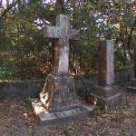 Howard Street Graveyard With Cross Tombstone Photo Sphere