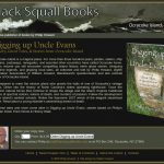 Black Squall Books webpage screenshot