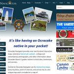 Ocracoke Navigator webpage screenshot
