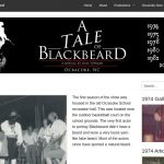 A Tale of Blackbeard webpage screenshot
