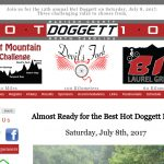Hot Doggett 100 webpage screenshot