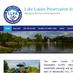 Lake Louise Preservation Association web page screenshot