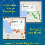 Ocracoke Navigator Rack Card Back