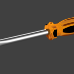 Screwdriver 3D graphic