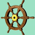 3-D Ship's Wheel 3D graphic